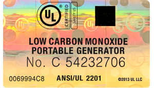 Portable generator hologram label