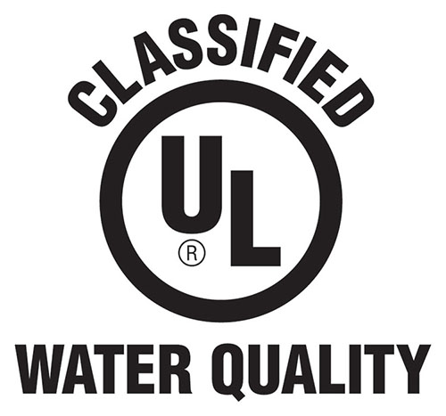 UL Water Quality Classified mark