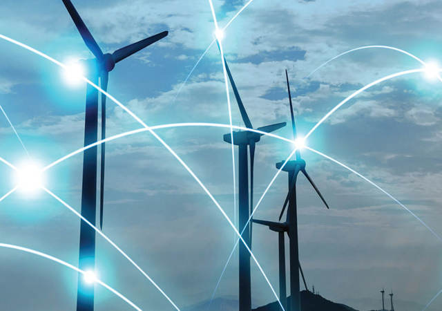 windfarm with cyber connections