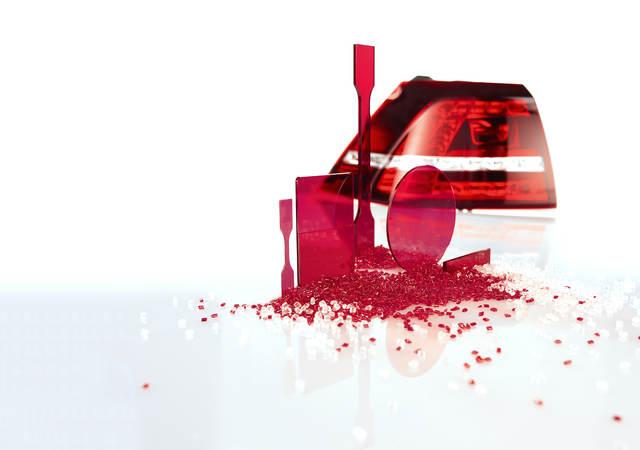 red plastic material