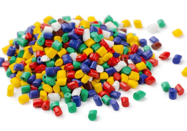 colored pellet mound
