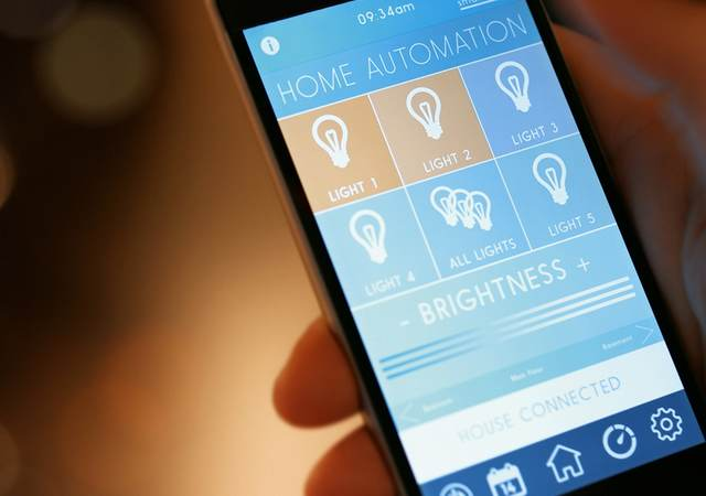 Phone app for controlling home lighting automation