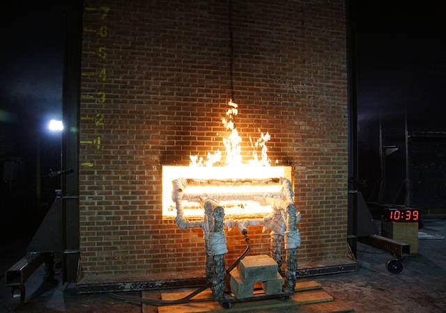 Fire in test furnace