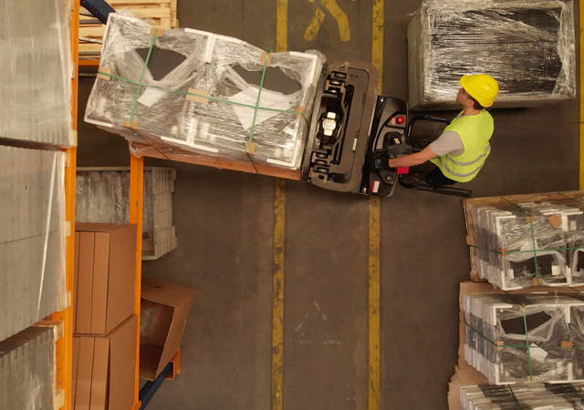 Manufacturer moves batteries ready for shipment