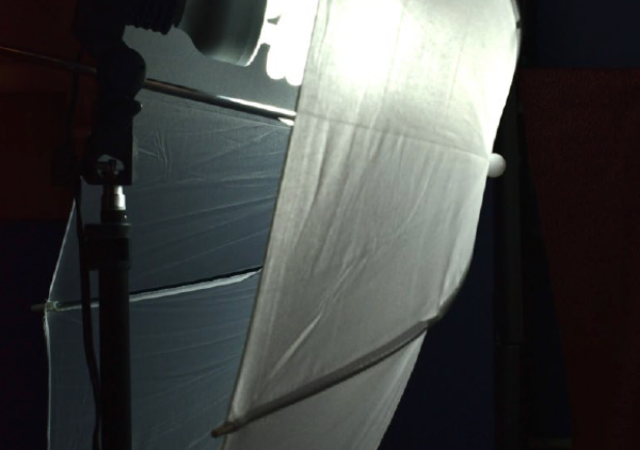 Studio lighting with umbrella