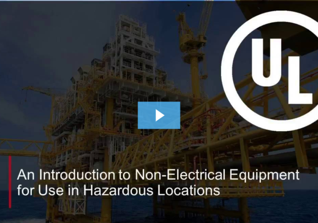An introduction to non-electrical equipment for use in hazardous locations
