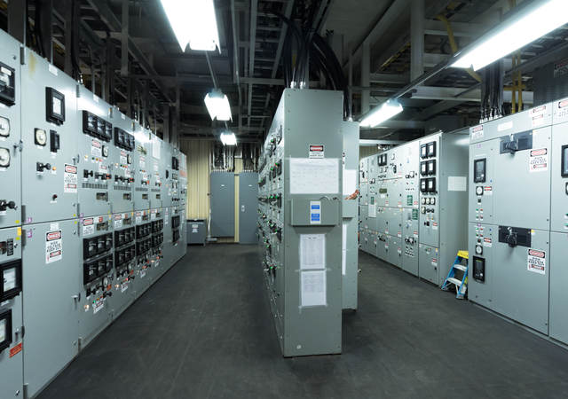 Engine control room of large vessel