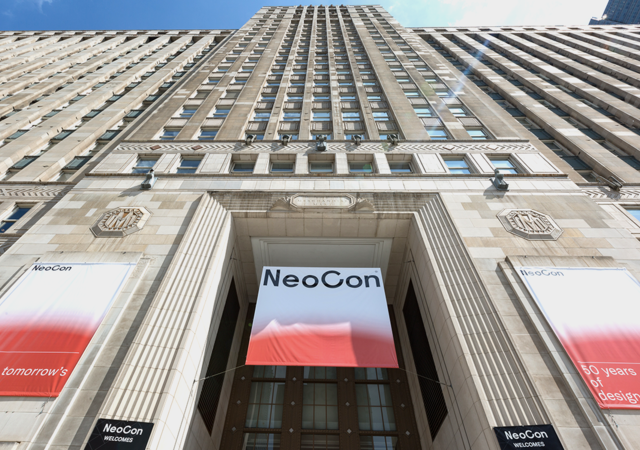 The Mart main entrance to Neocon show