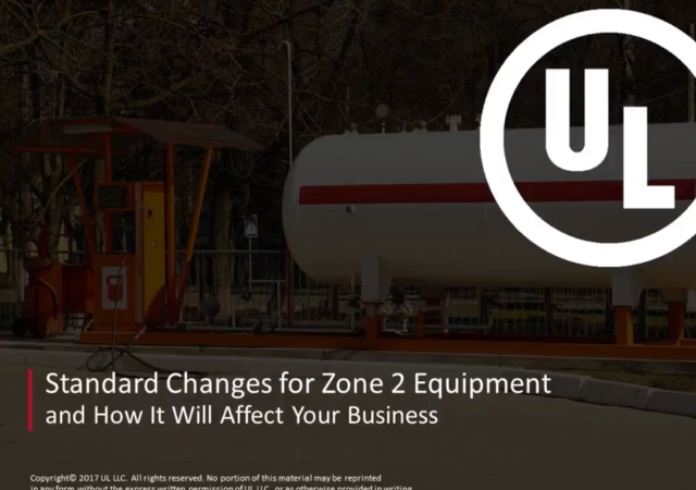 Standard changes for zone 2 equipment
