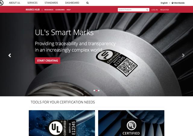 screen shot of Marks Hub user interface