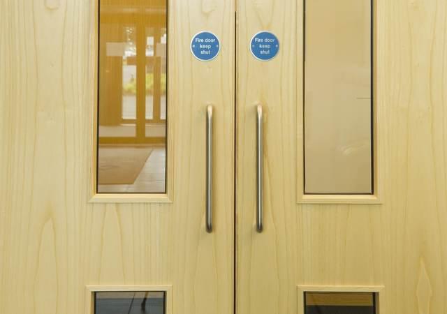 fire door frame label