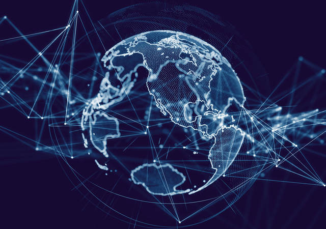 global communication network concept