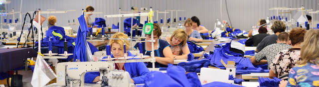 Clothing manufacturing workers
