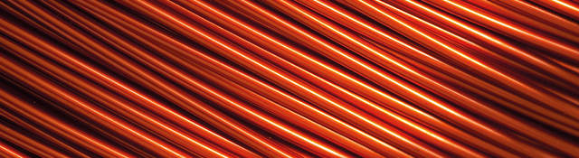 A close-up image of hundreds of electrical wires.