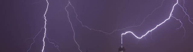 Lightning over the World Trade Center