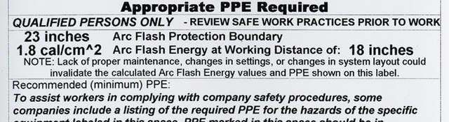 Arc Flash Warning Label