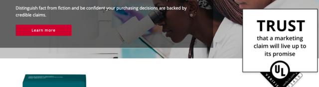 Homepage of UL Verify
