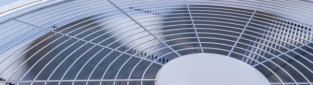Close up view of HVAC units