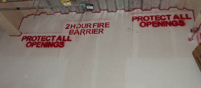 Fire safety joint protection construction