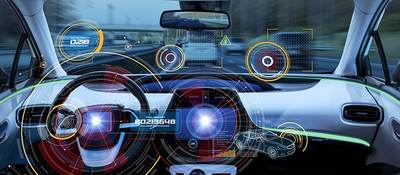 Driverless vehicle heads up display