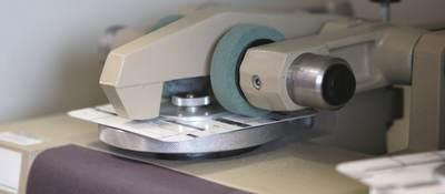 Abrasion testing on a label
