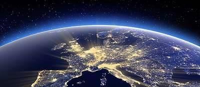 overhead shot of the world