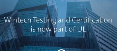 Blue buildings with UL logo overlay