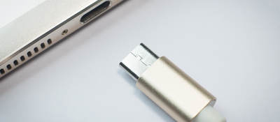 Photo of a Thunderbolt charging cable