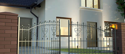 Home with gate