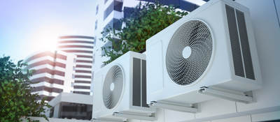Close up of air compressors