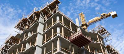 Concrete Highrise Construction Site