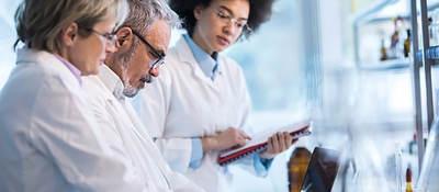 Photo of doctors analyzing data