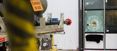 Impact cannon testing window - fenestration product testing
