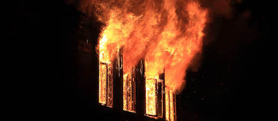Building windows on fire