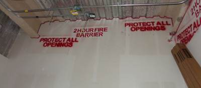 Firestopping wall sealant