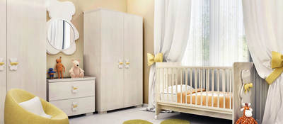 Baby nursery with children's furniture