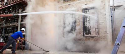 Hose stream test for fire door