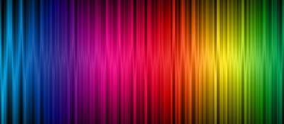 Abstract rainbow image of the visible light spectrum