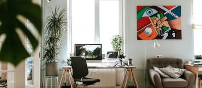 Workplace as home office, smart working
