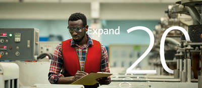 Expand 2020: A man auditing factory equipment