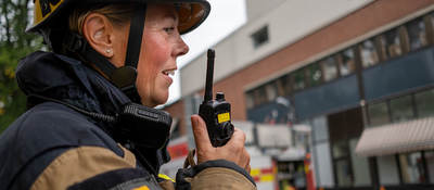 First responder with radio