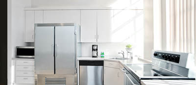A new kitchen in a house