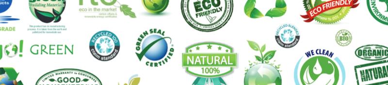 Greenwashing logos.