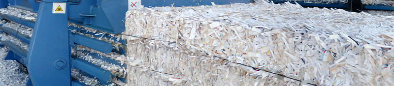 Paper being recycled