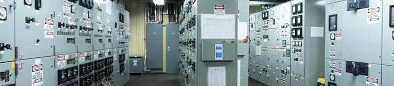 Engine control room of large vessel