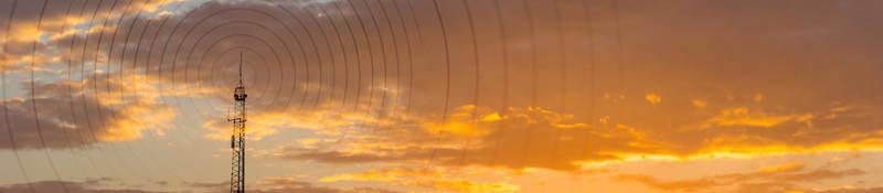 Radiowave visualization at sunset