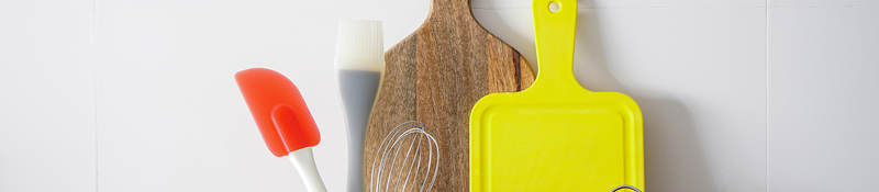 Photo of cutting boards and cooking utensils