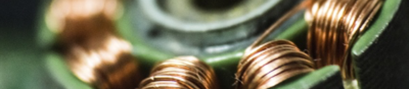 Component wrapped in copper wiring