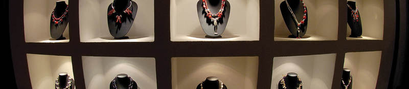 Photo of a retail display of jewelry