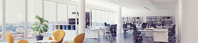 photo of an open office layout